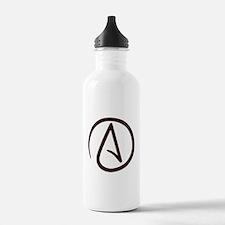 Atheist Symbol Sports Water Bottle