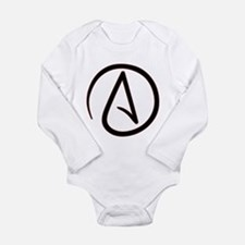 Atheist Symbol Long Sleeve Infant Bodysuit