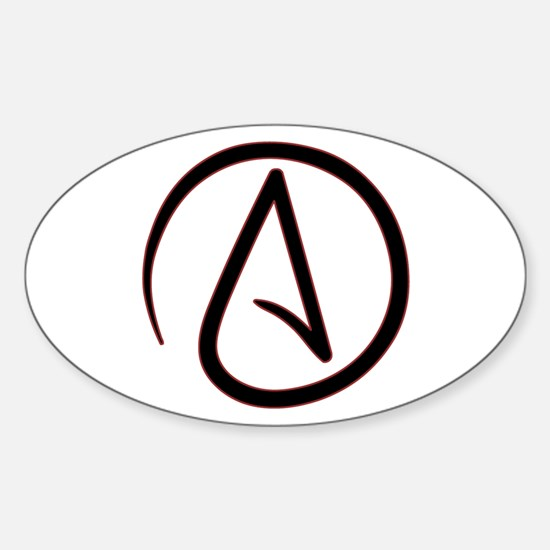 Atheist Symbol Sticker (Oval)