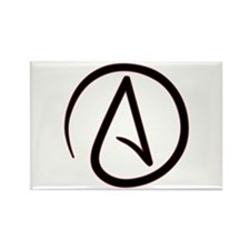 Atheist Symbol Rectangle Magnet