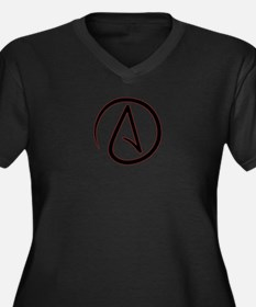 Atheist Symbol Women's Plus Size V-Neck Dark T-Shi