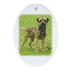 Border Terrier 8T086D-11 Ornament (Oval)