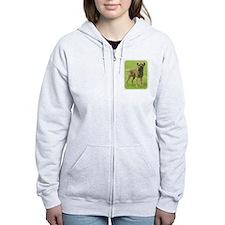 Border Terrier 8T086D-11 Zip Hoodie
