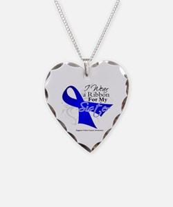 Sister Colon Cancer Necklace Heart Charm