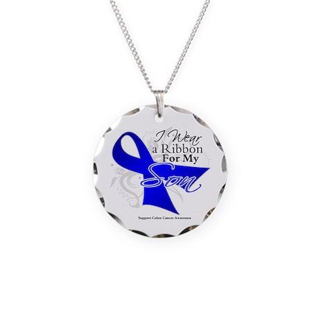 Son Colon Cancer Necklace Circle Charm