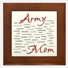 Army Mom poem in words Framed Tile