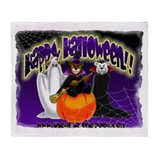 NEW! 3 Halloween Bears Throw Blanket