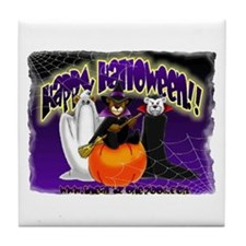 NEW! 3 Halloween Bears Tile Coaster
