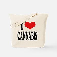 I Love Cannabis Tote Bag