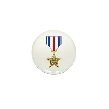 Silver Star Mini Button (100 pack)