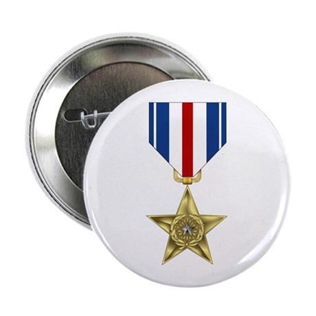 "Silver Star 2.25"" Button (100 pack)"