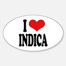 I Love Indica Decal