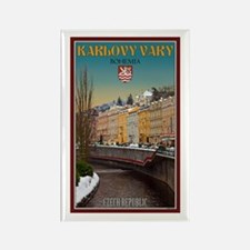 Winter in Karlovy Vary Rectangle Magnet