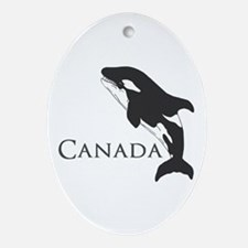 Whale Song Ornament (Oval)