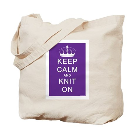 Keep Calm and Knit On Tote Bag