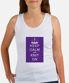 Keep Calm and Knit On Women's Tank Top