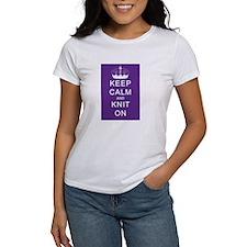 Keep Calm and Knit On Tee