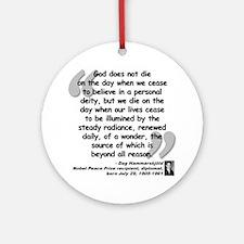 Hammarskjold God Quote Ornament (Round)