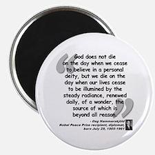 "Hammarskjold God Quote 2.25"" Magnet (100 pack)"