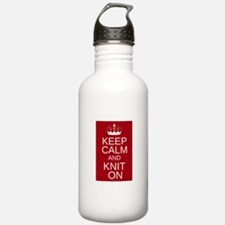 Customisable Keep Calm and Kn Water Bottle