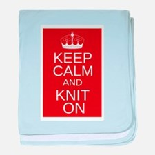 Customisable Keep Calm and Kn baby blanket