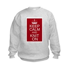 Customisable Keep Calm and Kn Sweatshirt
