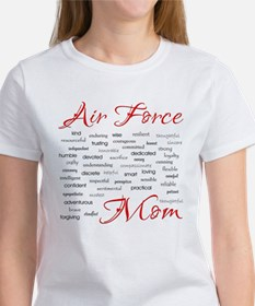 Air Force Mom Poem of words Tee