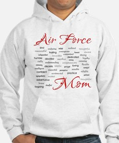 Air Force Mom Poem of words Hoodie