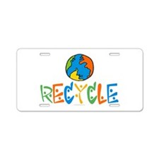 Recycling Aluminum License Plate