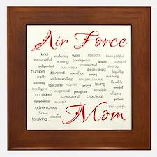 Air Force Mom Poem of words Framed Tile