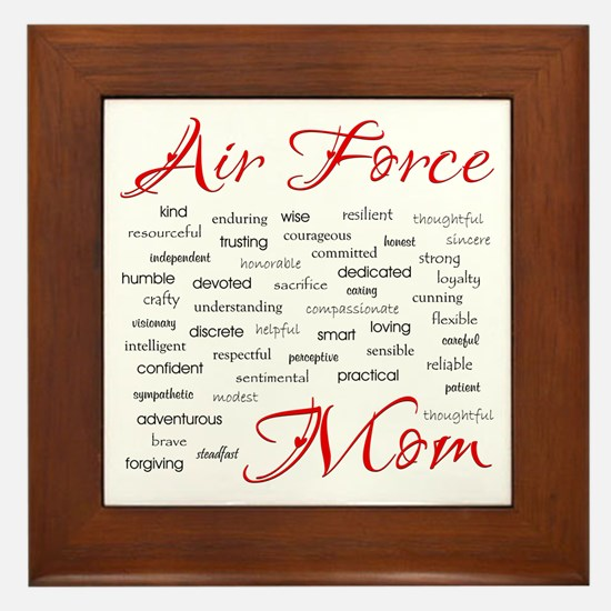 Air Force Mom Poem of words Framed Tile