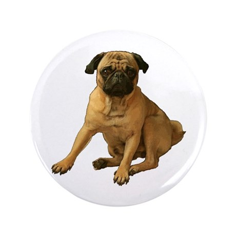 """Pug 2 3.5"""" Button (100 pack)"""