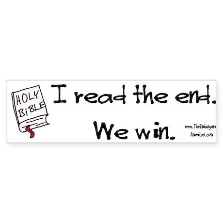 Biblical Victory Sticker (Bumper)