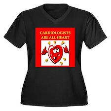 cardiologist Women's Plus Size V-Neck Dark T-Shirt