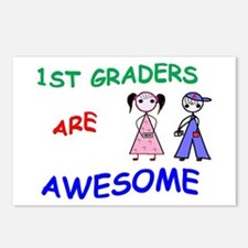 1ST GRADERS ARE AWESOME Postcards (Package of 8)