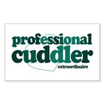 Professional Cuddler Rectangle Sticker