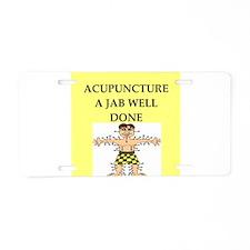 acupuncture Aluminum License Plate