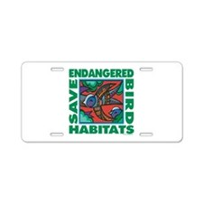 Save Bird Habitats Aluminum License Plate