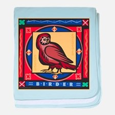 Owl Birdwatching baby blanket
