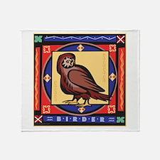 Owl Birdwatching Throw Blanket