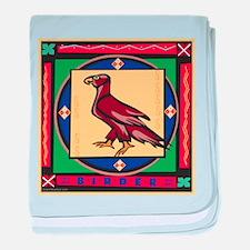 Bird of Prey Birding baby blanket