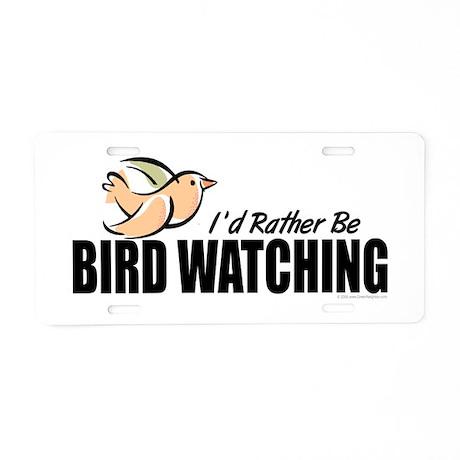 Bird Watching Aluminum License Plate
