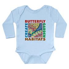 Butterfly Garden Long Sleeve Infant Bodysuit