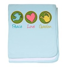 Peace Love Garden baby blanket