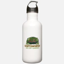 Garden Earthworms Water Bottle