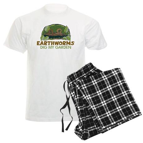 Garden Earthworms Men's Light Pajamas