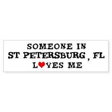 Someone in St Petersburg Bumper Bumper Sticker