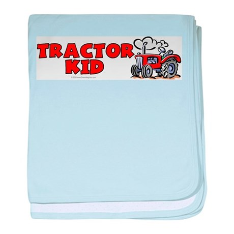 Red Tractor Kid baby blanket