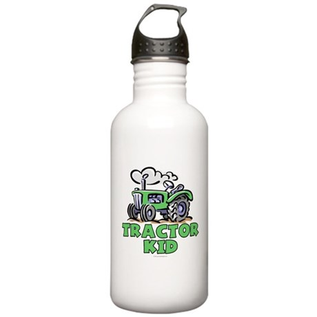 Green Tractor Kid Stainless Water Bottle 1.0L