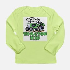 Green Tractor Kid Long Sleeve Infant T-Shirt